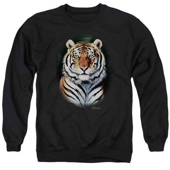Wildlife Jungle Fire Adult Crewneck Sweatshirt