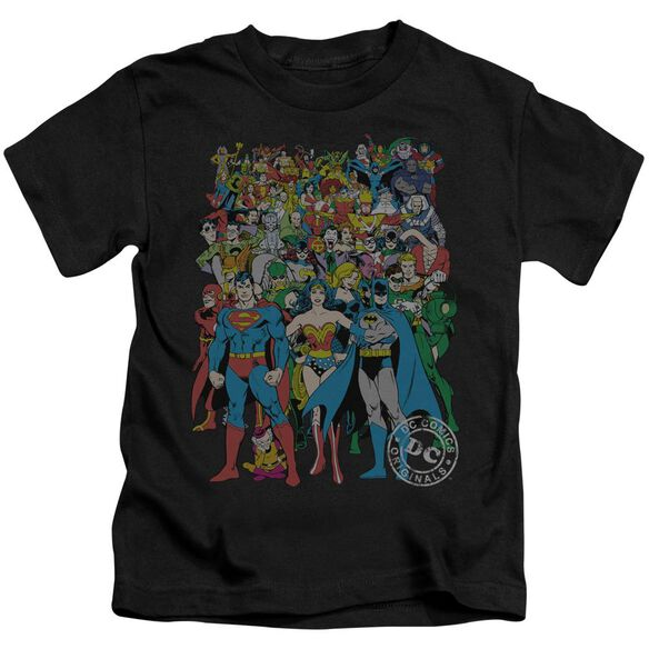 Dc Original Universe Short Sleeve Juvenile Black T-Shirt