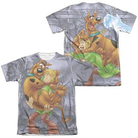 Scooby Doo Scooby And Shaggy (Front Back Print) Adult Poly Cotton Short Sleeve Tee T-Shirt
