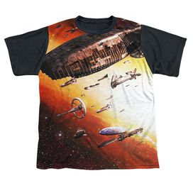 Bsg (New) Fleet Of Humanity Short Sleeve Youth Front Black Back T-Shirt