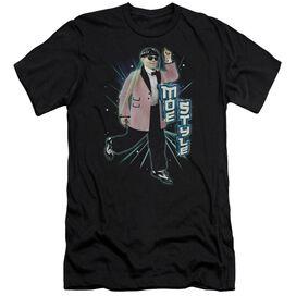 THREE STOOGES MOE STYLE - S/S ADULT 30/1 - BLACK T-Shirt