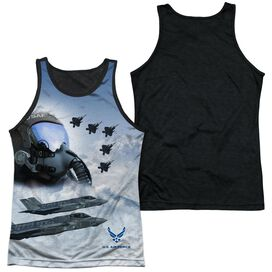 Air Force Pilot Adult Poly Tank Top Black Back