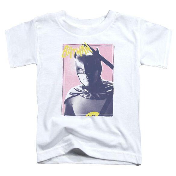 Batman Classic Tv Wayne 80's Short Sleeve Toddler Tee White T-Shirt