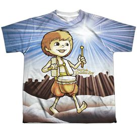 Little Drummer Boy Guiding Light Short Sleeve Youth Poly Crew T-Shirt