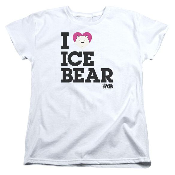 We Bare Bears Heart Ice Bear Short Sleeve Womens Tee T-Shirt