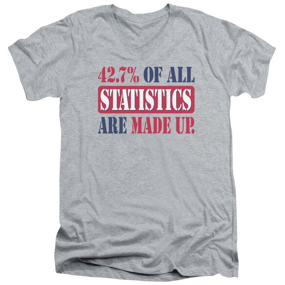 Statistics Short Sleeve Adult V Neck Athletic T-Shirt