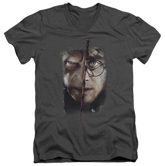 Harry Potter It All Ends Here Short Sleeve Adult V Neck T-Shirt
