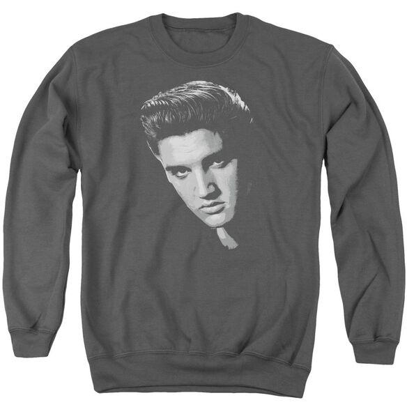 Elvis Presley American Idol - Adult Crewneck Sweatshirt - Charcoal