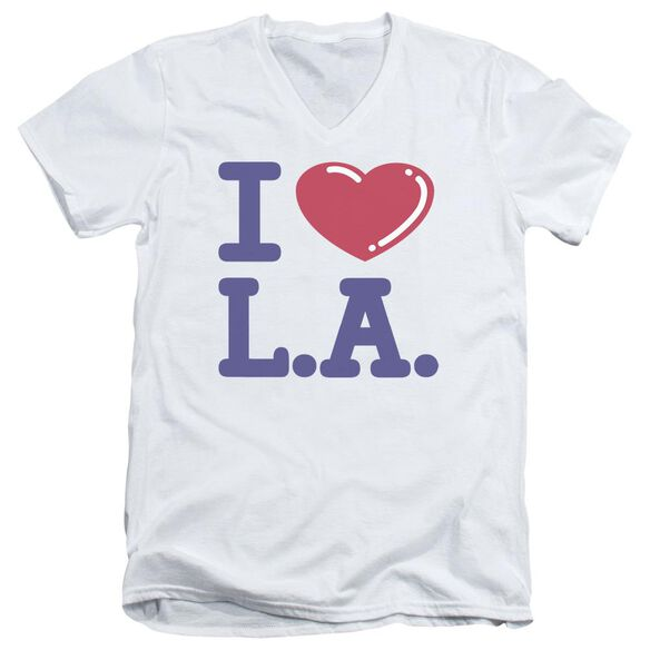 I Love L.A. Short Sleeve Adult V Neck T-Shirt