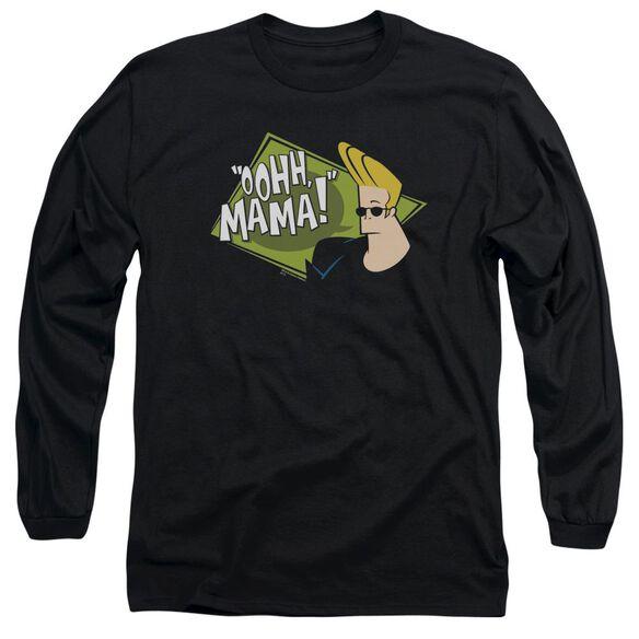 Johnny Bravo Oohh Mama Long Sleeve Adult T-Shirt
