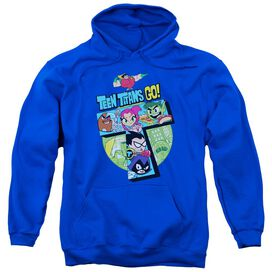 Teen Titans Go T Adult Pull Over Hoodie Royal