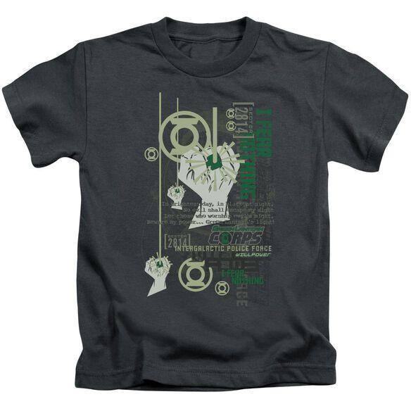 Green Lantern Core Strength Short Sleeve Juvenile Charcoal T-Shirt