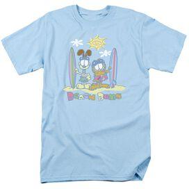 GARFIELD BEACH BUMS-S/S ADULT 18/1 - LIGHT BLUE T-Shirt