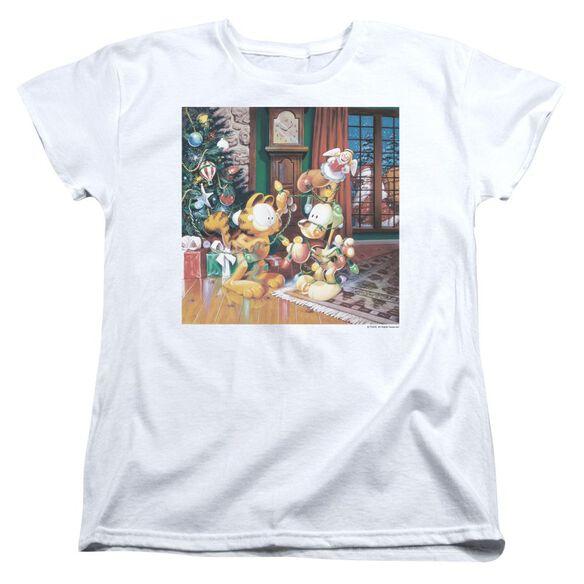 Garfield Odie Tree Short Sleeve Womens Tee T-Shirt