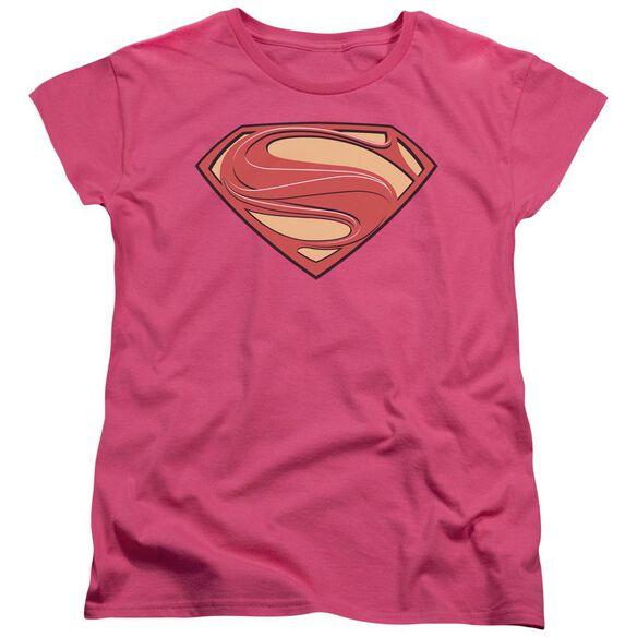 Man Of Steel New Solid Shield Short Sleeve Women's Tee Hot T-Shirt