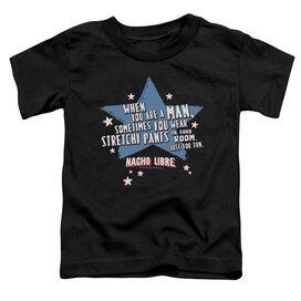 Nacho Libre Stetchy Pants Short Sleeve Toddler Tee Black Lg T-Shirt