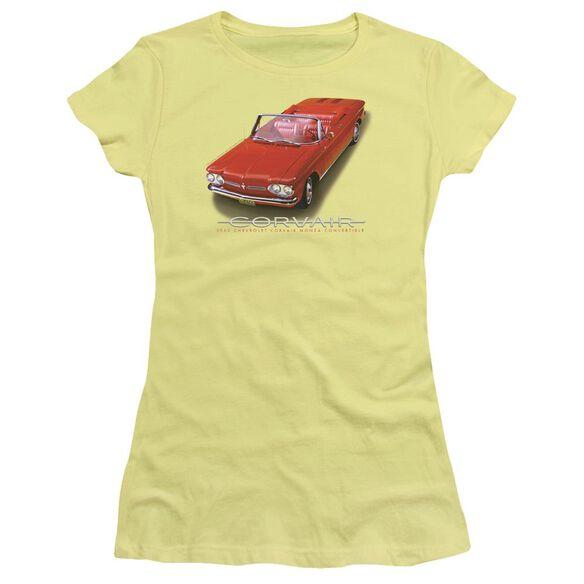 Chevrolet 62 Corvair Convertible Short Sleeve Junior Sheer T-Shirt