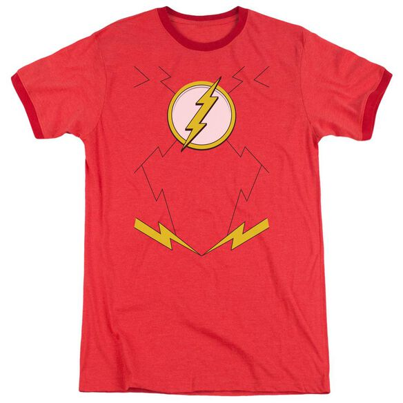 Jla New Flash Costume Adult Heather Ringer Red