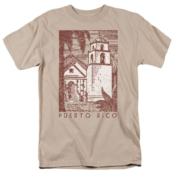 Puerto Rico Cityscape Short Sleeve Adult Sand T-Shirt