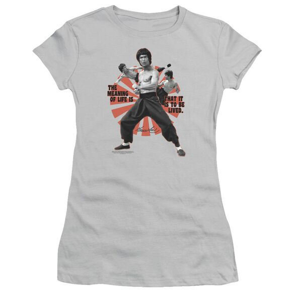 Bruce Lee Meaning Of Life Short Sleeve Junior Sheer T-Shirt