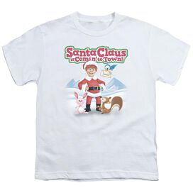 Santa Claus Is Comin To Town Animal Friends Short Sleeve Youth T-Shirt