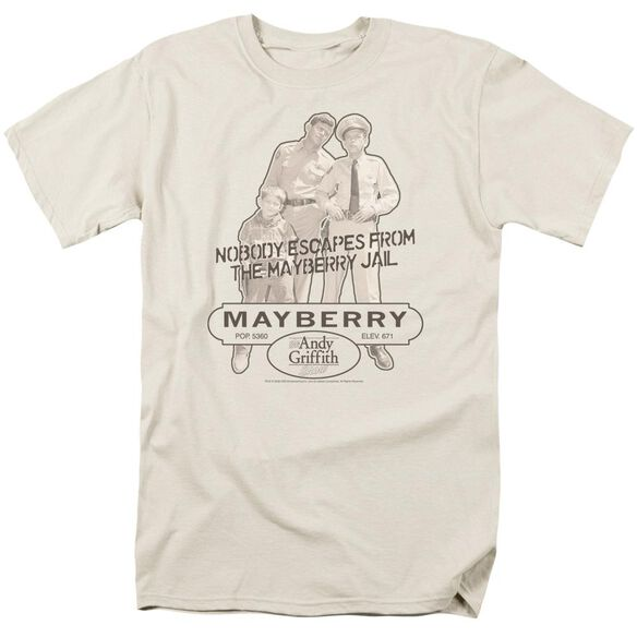Andy Griffith Mayberry Jail Short Sleeve Adult Cream T-Shirt