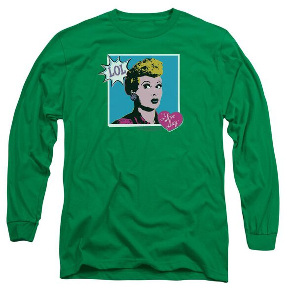 I Love Lucy I Love Worhol Lol Long Sleeve Adult Kelly T-Shirt