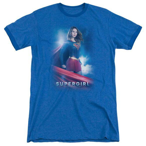 Supergirl Kara Zor El Adult Ringer Royal Blue