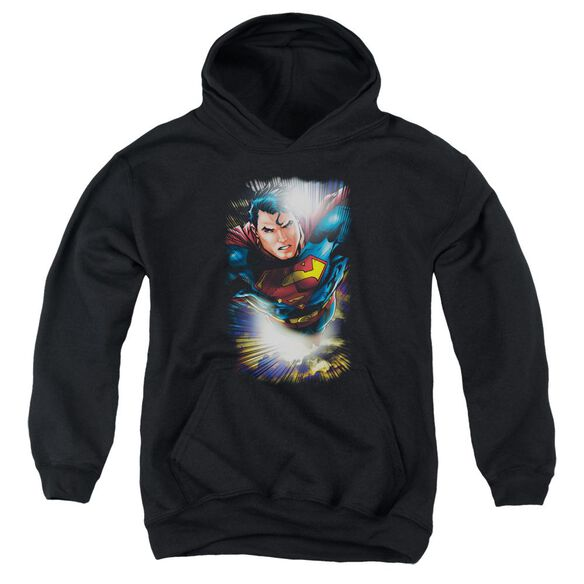 Superman In The Sky Youth Pull Over Hoodie