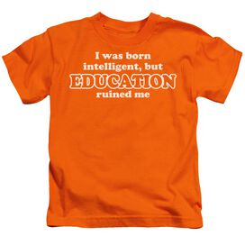 Born Intelligent Short Sleeve Juvenile Orange T-Shirt