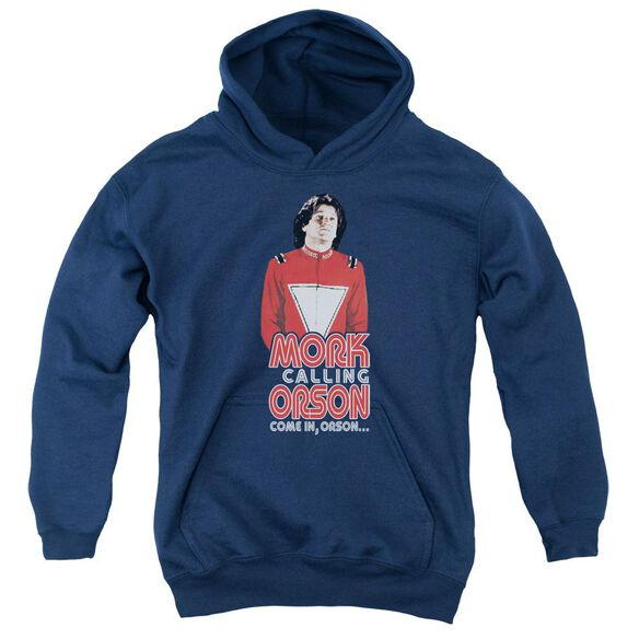 Mork & Mindy Come In Orson Youth Pull Over Hoodie