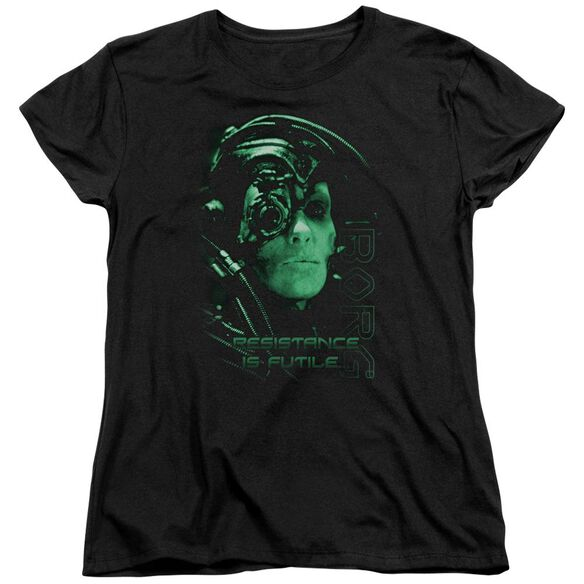 Star Trek Resistance Is Futile Short Sleeve Womens Tee T-Shirt