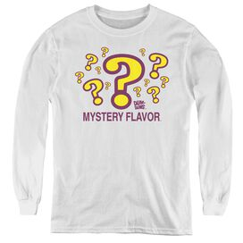 Dum Dums Mystery Flavor - Youth Long Sleeve Tee - White