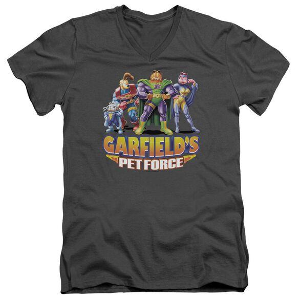 Garfield Beyond Short Sleeve Adult V Neck T-Shirt