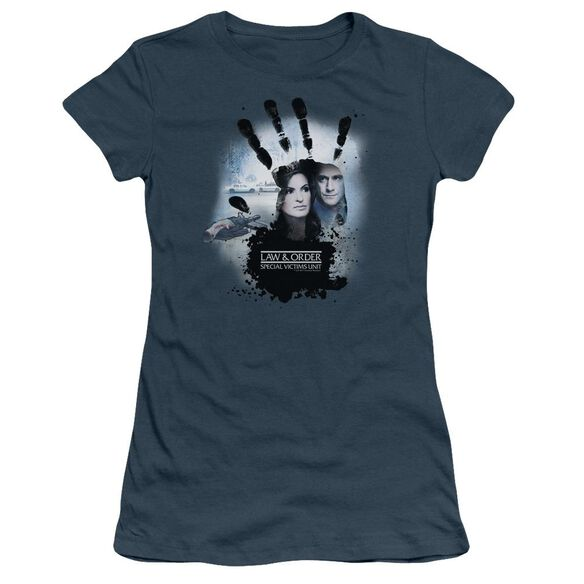 Law And Order Svu Hand Short Sleeve Junior Sheer T-Shirt