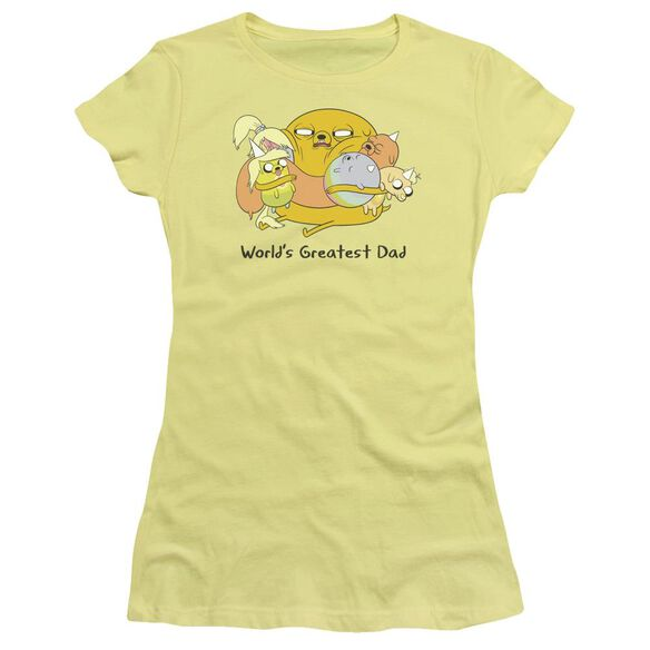 Adventure Time Worlds Greatest Dad Hbo Short Sleeve Junior Sheer T-Shirt