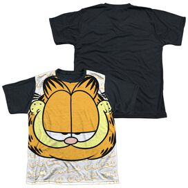 Garfield Big Face Short Sleeve Youth Front Black Back T-Shirt