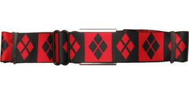 Harley Quinn Checkered Symbols Seatbelt Belt