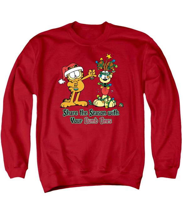 Garfield Share The Season Adult Crewneck Sweatshirt