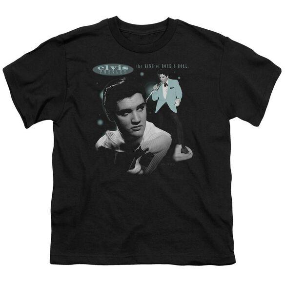 Elvis Teal Portrait Short Sleeve Youth T-Shirt