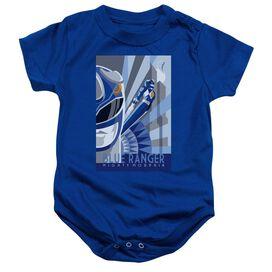 Power Rangers Blue Ranger Deco Infant Snapsuit Royal Blue