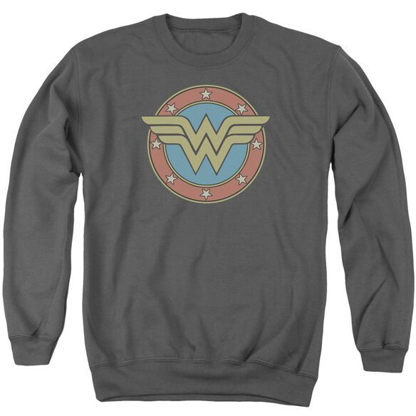 Dc Ww Vintage Emblem Adult Crewneck Sweatshirt