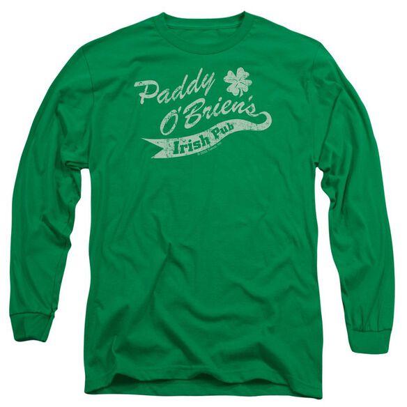 Paddy O'briens Irish Pub Long Sleeve Adult Kelly T-Shirt