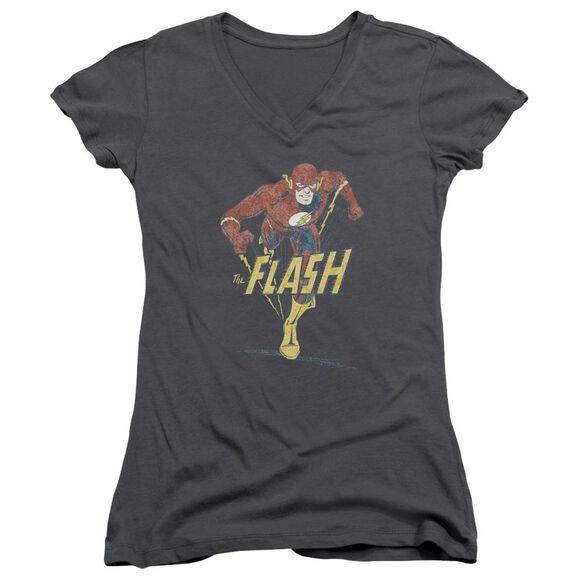Dco Desaturated Flash Junior V Neck T-Shirt