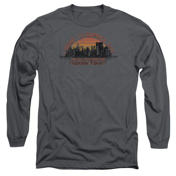 BSG CAPRICA CITY - L/S ADULT 18/1 - CHARCOAL T-Shirt