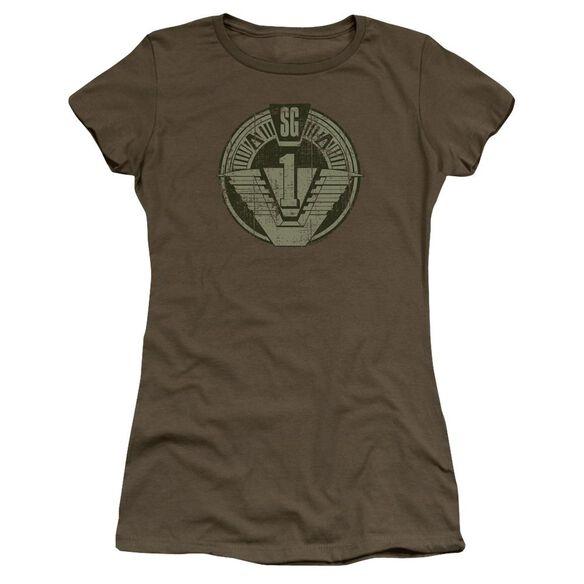 Stargate Sg1 Distressed Premium Bella Junior Sheer Jersey Military