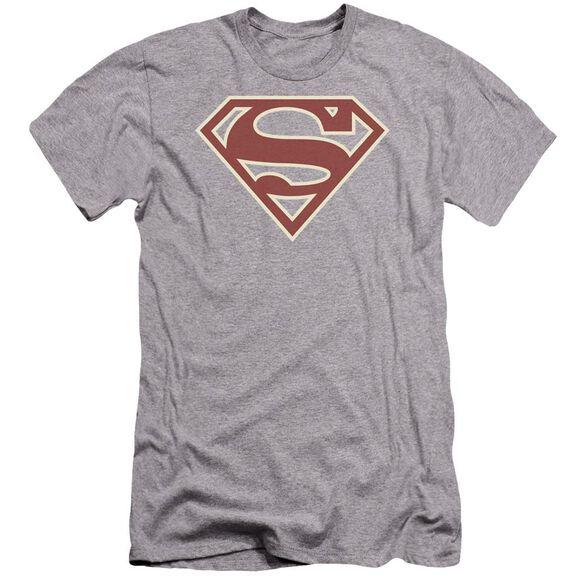 Superman Crimson & Cream Shield Premuim Canvas Adult Slim Fit Athletic