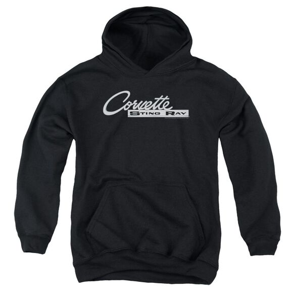 Chevrolet Chrome Stingray Logo Youth Pull Over Hoodie