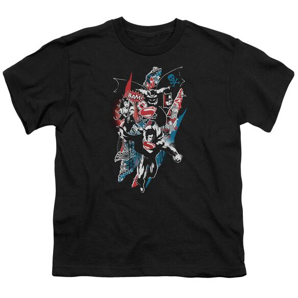 Batman V Superman Ripped Trio 2 Short Sleeve Youth T-Shirt