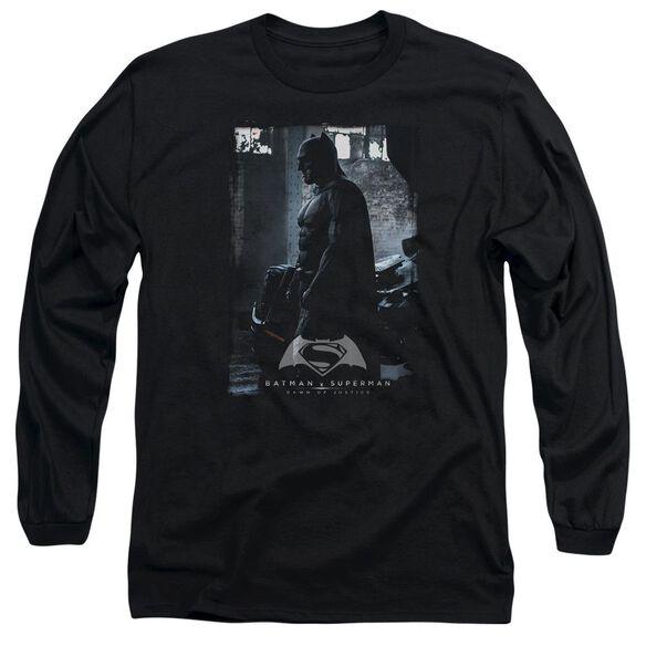 Batman V Superman Bat Poster Long Sleeve Adult T-Shirt
